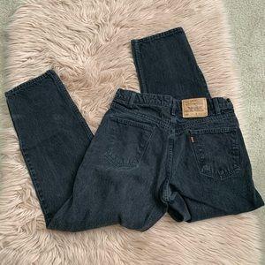 Levi's 550 black orange tab jeans